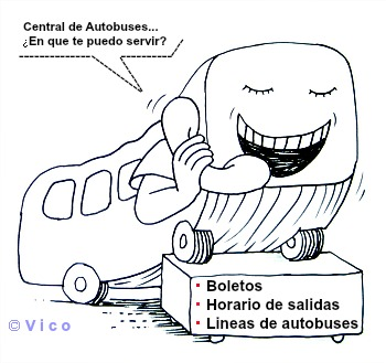 Números de teléfonos de Centrales de Autobuses en México.